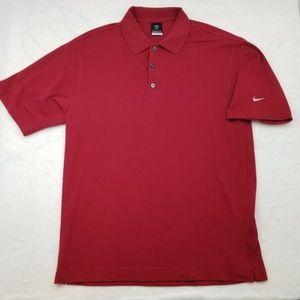 Nike Dri Fit Golf Polo Shirt Cotton Polyester